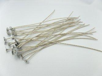 Knoty bawełniane z blaszkami knoty 20 cm 20 szt.