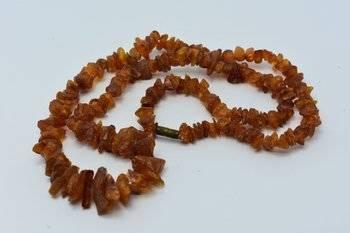 Naszyjnik z korali bursztyna bałtyckiego 27 g