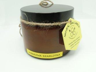 Świeca w słoiku z wosku pszczelego jabłkowa szarlotka 500 ml