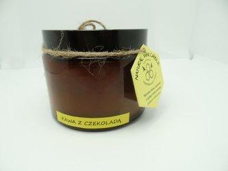 Świeca w słoiku z wosku pszczelego kawa z czekoladą 500 ml