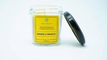 Świeca w słoiku z wosku pszczelego soczyste mango z wanilią 120 ml