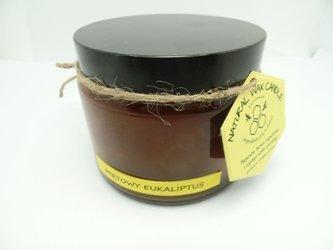 Świeca w słoiku z wosku sojowego miętowy las eukaliptusowy 500 ml