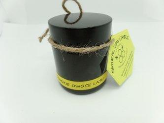 Świeca w słoiku z wosku sojowego słodkie owoce lasu 120 ml