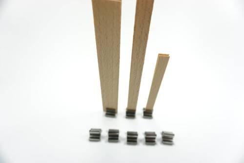 Blaszki do knota drewnianego stopka 10 szt.