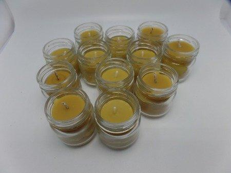 Ekologiczna świeca 3 szt. w słoiku z wosku pszczelego