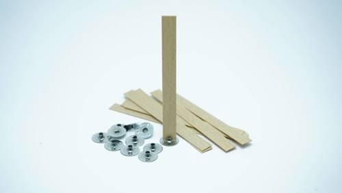 Knot drewniany do wosku stopki gratis 20 szt 10 cm