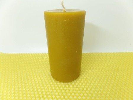 Naturalna świeca z wosku pszczelego słupek 3 szt.