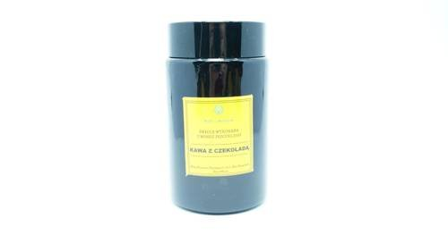 Świeca w słoiku z wosku pszczelego kawa z czekoladą 240 ml