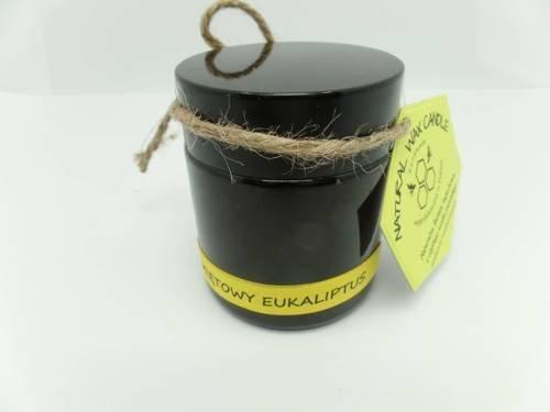 Świeca w słoiku z wosku sojowego miętowy las eukaliptusowy 120 ml