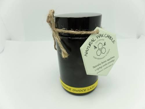Świeca w słoiku z wosku sojowego słodkie owoce lasu 200 ml