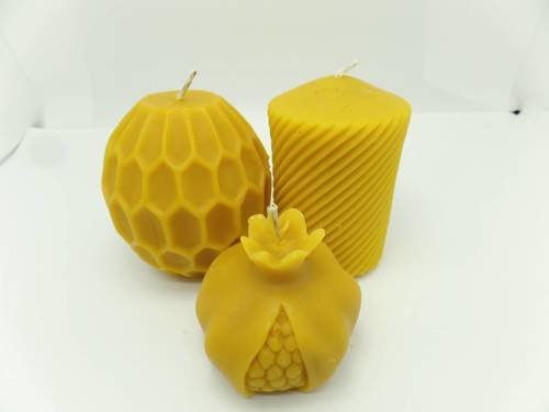 Zestaw ŚWIĄTENCZY trzech świec + worek pszczelarza prezent