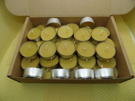 Zestaw tealight podgrzewacze z wosku pszczelego 50 szt.
