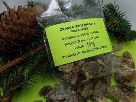 Żywica świerkowa naturalna zbierana ręcznie 10 g