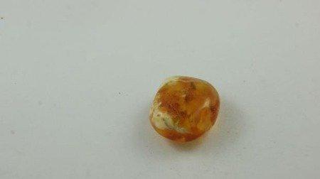 bursztyn bałtycki okrągły otwory miodowy pasy 5,7 g