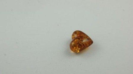 bursztyn bałtycki serce koniak łuskowany inkluzje 2,5 g