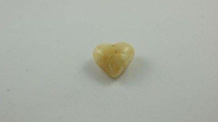 bursztyn bałtycki serce spękany biały naturalny 2,5 g