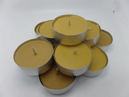tealight z wosku pszczelego duży 50 szt.